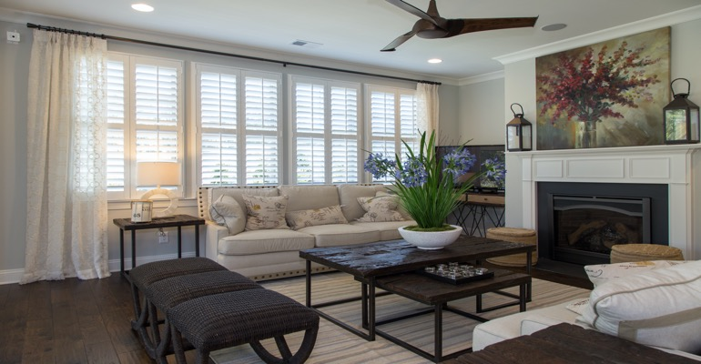 Plantation Shutters in Boston Living Room