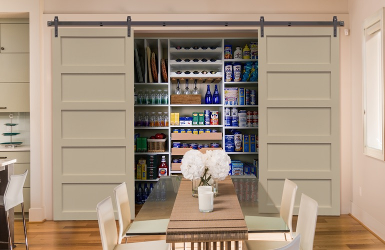 Sliding Barn Doors On A Boston Pantry