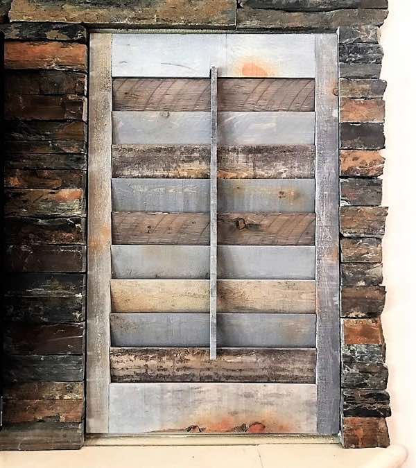 Boston reclaimed wood shutter