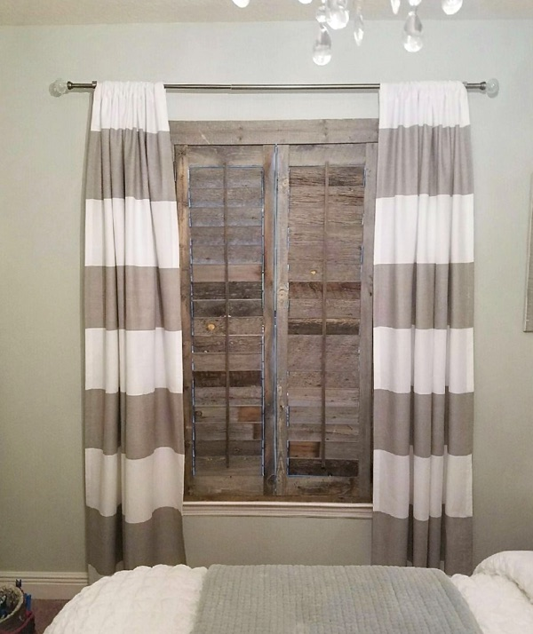 Boston reclaimed wood shutter bedroom