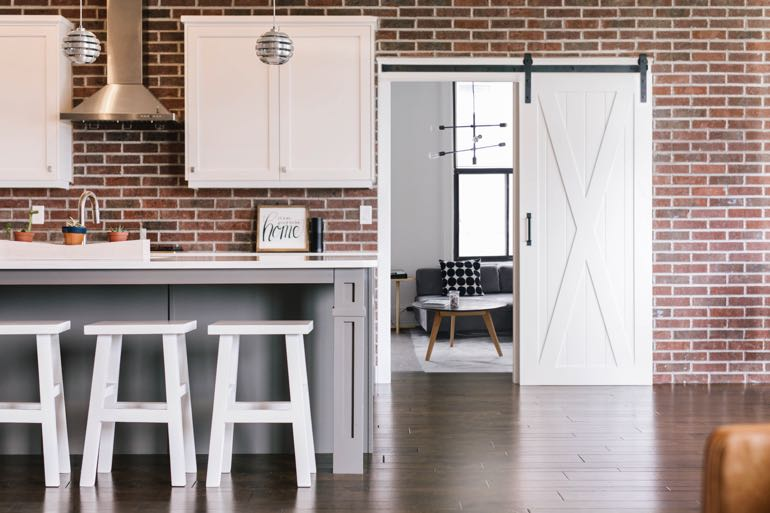 Boston modern kitchen barn door