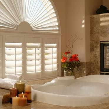 Boston bathroom plantation shutters.