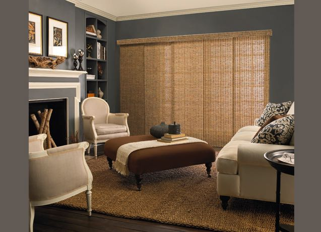 Boston living room wide vertical blinds