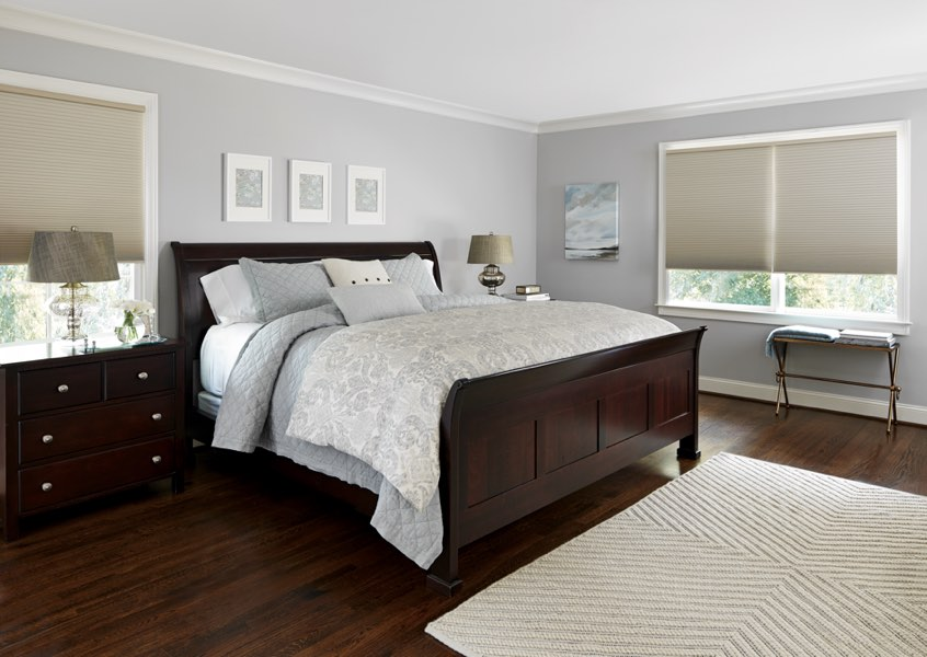 Boston blackout shades bedroom