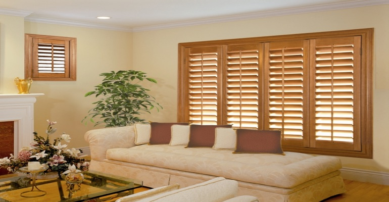 wood shutters Boston parlor
