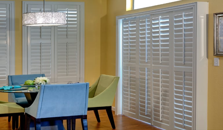 Patio Doors with Plantation Shutters in Boston