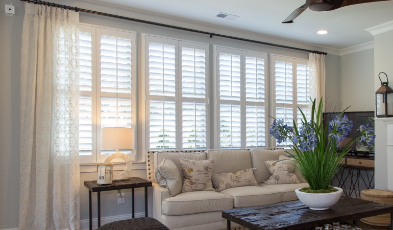 Interior Shutters in Boston Living Room
