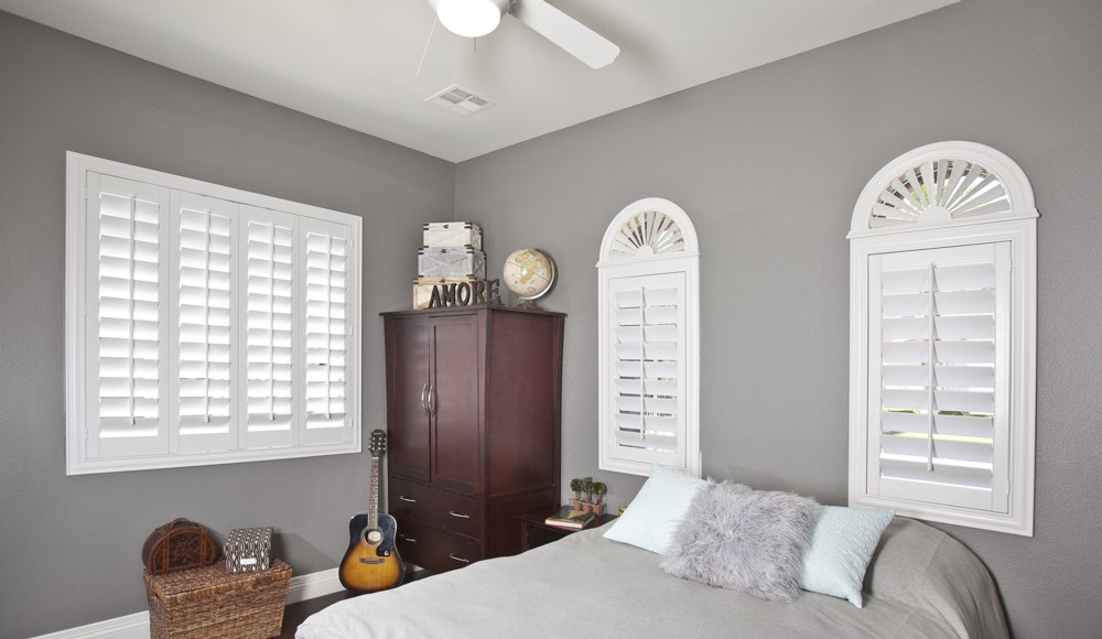 Polywood Shutters In A Boston Bedroom