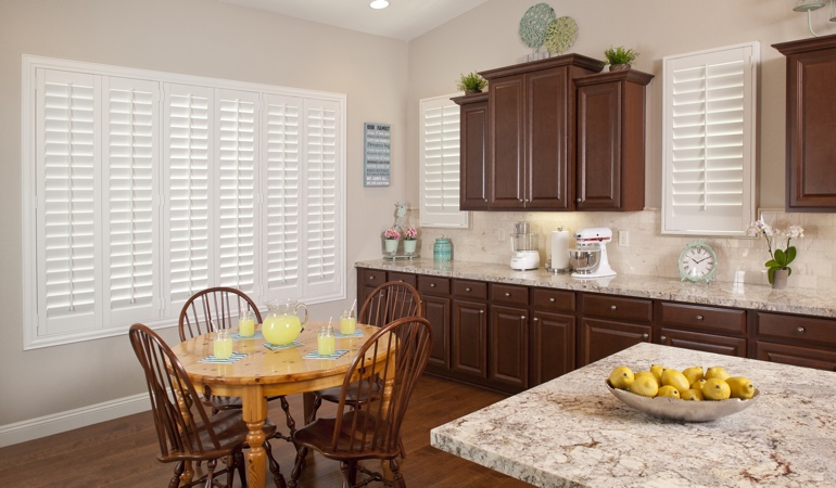 Polywood Shutters in Boston kitchen