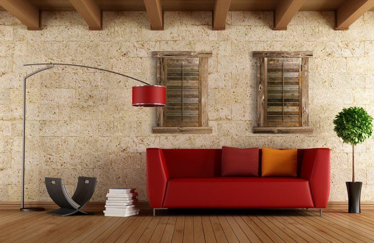 Reclaimed Wood Shutters In A Boston Living Room. - Reclaimed Wood Shutters For Sale Sunburst Shutters Boston, MA