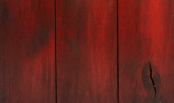 Red finish for barn doors