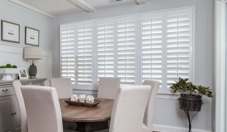 shutters in Boston living room