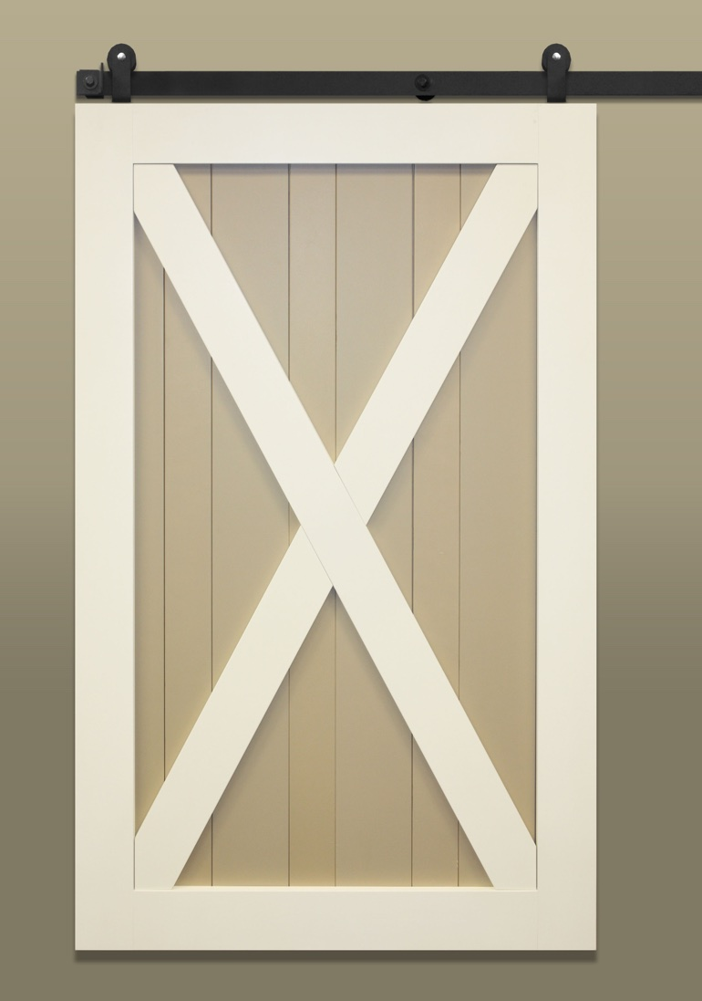 Stile & Rail With X-brace Barn Door