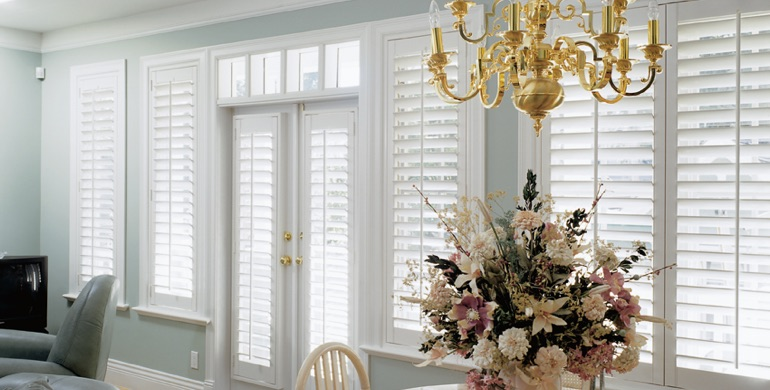 Boston sunroom polywood shutters