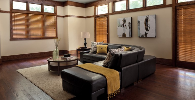 Boston hardwood floor and blinds