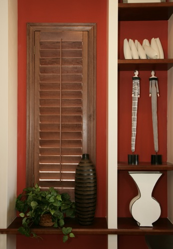 Boston wood shutter shelving
