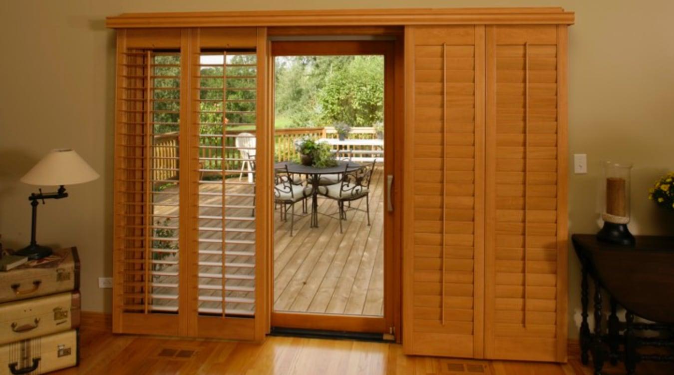 Blinds For Sliding Glass Doors sliding glass door shutters in boston | sunburst shutters boston, ma