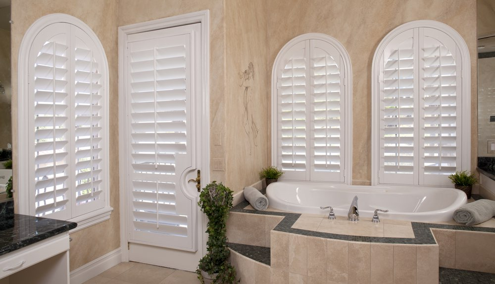Arched Shutters In A Boston Bathroom