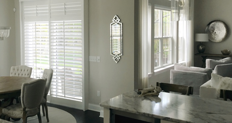 Boston kitchen sliding glass door shutters