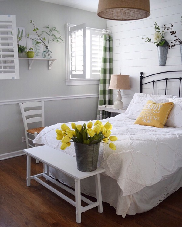 Boston cottage bedroom shutters