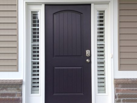 Boston front door shutters